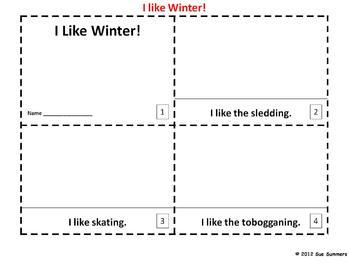 Winter Emergent Readers - I Like Winter