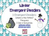 Winter Emergent Readers: Snowmen, Penguins, and Mittens