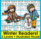 Winter Fun Readers - 3 Levels + Illustrated Word Wall: Win