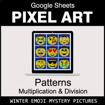 Winter Emoji - Number Patterns: Multiplication & Division - Google Sheets
