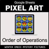 Winter Emoji - Order of Operations - Google Sheets Pixel Art