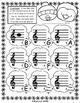 Winter Emoji Treble Clef Lines & Spaces Review - Printable Worksheets PDF