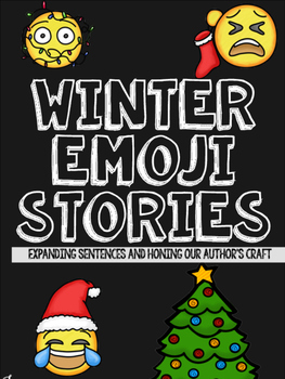 Winter Emoji Writing: Expanding Sentences and Writing