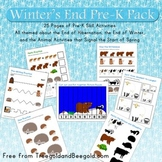 Winter Ending Hibernating Animals Waking Up Pre-K Pack