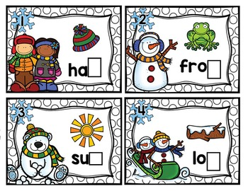 Winter Ending Sound Task Card Activities