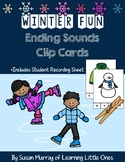 Winter Ending Sounds Clip Cards