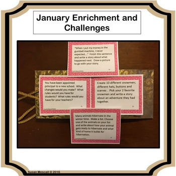 Winter Enrichment and Challenge Task Card Bundle