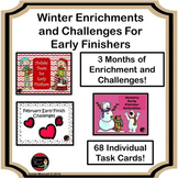 Winter Enrichment and Challenge Task Card Bundle