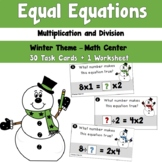 Winter Equal Equations using Multiplication and Division