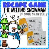 Winter Escape Room 3rd Grade Math Skills