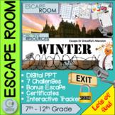 Christmas Activities Escape Room - High School Students