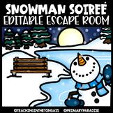 Winter Escape Room (Editable Escape Room Winter Activities)