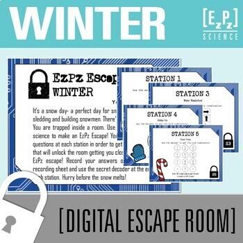 Winter Escape Room- Science Digital Breakout