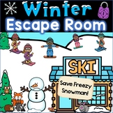 Winter Escape Room, Winter Breakout Activity Math Kinderga