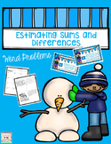 Winter Estimating Sums and Differences to 99 Word Problems
