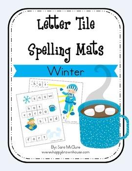 Winter Letter Tiles Spelling Mat