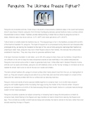 Winter Expository/Informational Writing: Penguins and Polar Bears