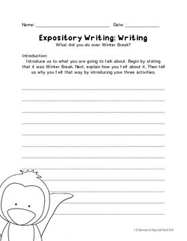 Winter Expository Writing