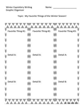 Winter Expository Writing - Grades 2-5 - Writing multiple paragraphs!