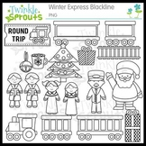 Winter Express Lineart