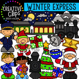 Winter Express Clipart {Creative Clips Clipart}