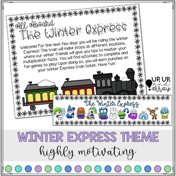 Winter Express Multiplication Activities and Games 1-10