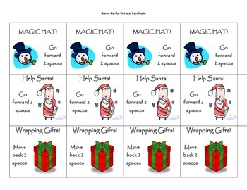 Winter Express Parts of Speech Board Game