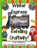 'Winter Express' Retelling Craftivity!  Color & B&W PLUS R