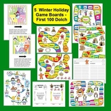 Winter FREEBIE: 5 Sight Words Game Boards - Dolch Words Set 1