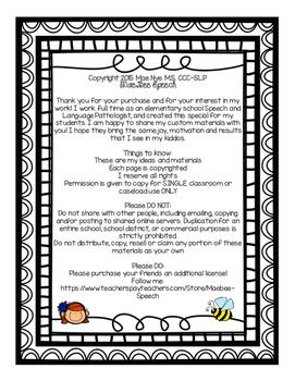 Winter FREEBIE Speech Language Worksheet Activity