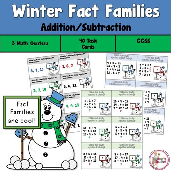 Winter Fact Family Task Cards