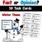 Winter Fact and Opinion Task Cards