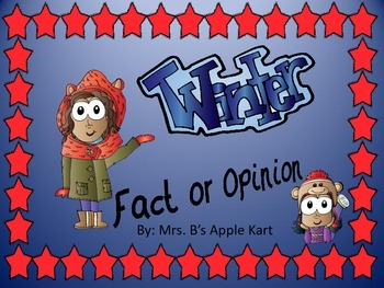 Winter Fact or Opinion Activity Sort