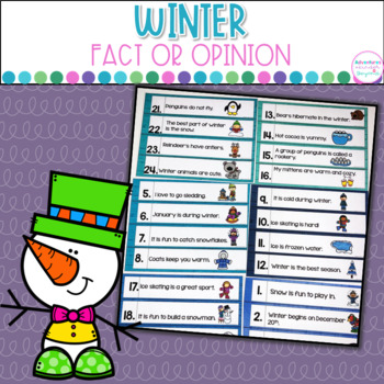 Winter Fact or Opinion Scoot Game