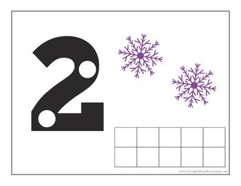 Winter Fairies Counting Mats (1-10)