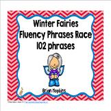 Winter Fairies Sight Word Fluency Phrases Race