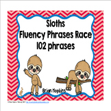 Sloths Sight Word Fluency Phrases Race