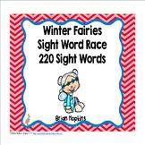 Winter Fairies Sight Word Race