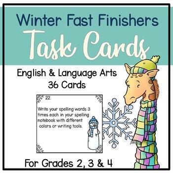 Winter Fast Finisher Task Cards-Language Arts