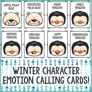 Winter Feelings Bingo Game Emotions Activity for School Counseling