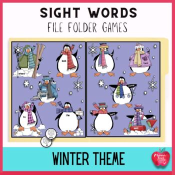 Sight Word File Folder Games for Winter