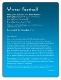 Winter Festival! A 40-Question Math Game for Grades 4-6+