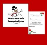 Winter Field Trip Permission Form