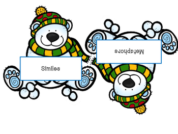 Winter Figurative Language Activity with Similes, Metaphors, and Idioms