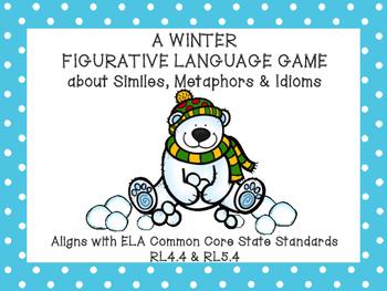 Winter Figurative Language Activity with Similes, Metaphor