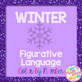 Winter Figurative Language Color by Number