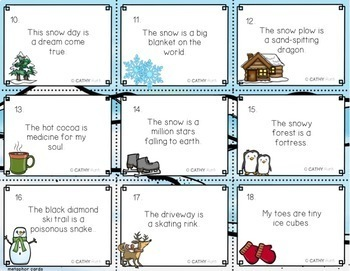 Winter Figurative Language Games and Creative Writing Projects