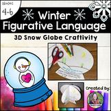Winter Figurative Language Snow Globe Craftivity