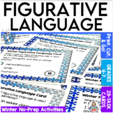 Winter Activity Figurative Language Task Cards