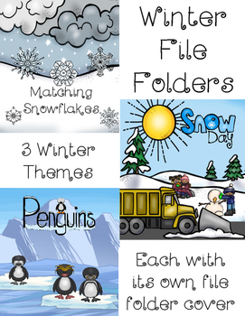 Winter File Folder Combo